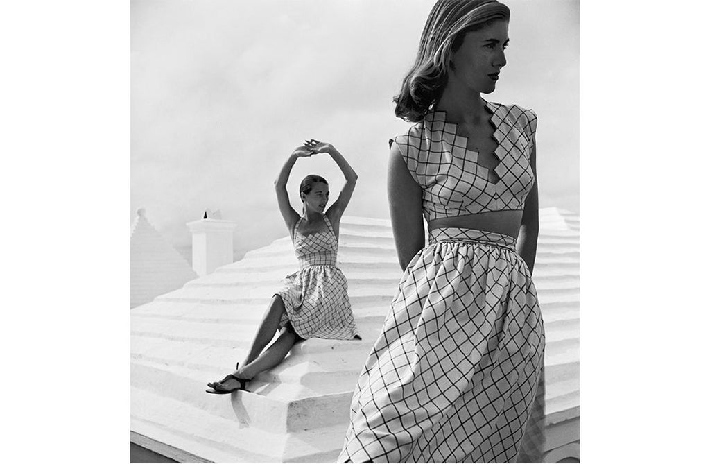 fashion history, 1940s fashion, American Look, Claire McCardell, crop top, sundress