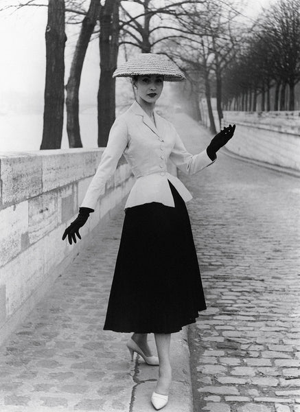 Dior, New Look, 1940s fashion, fashion history, American Look