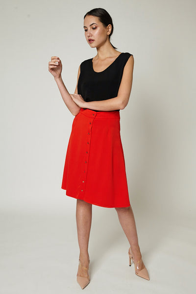 Delphine Silk Skirt