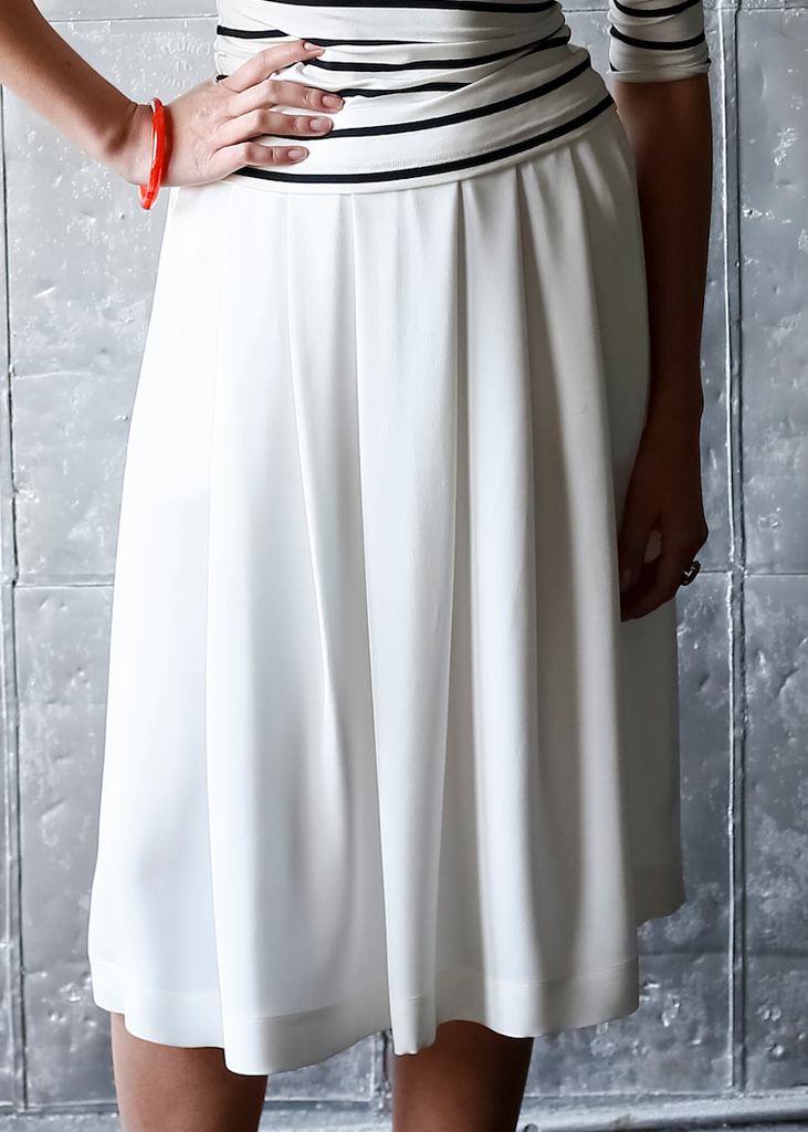 Lauren Pleated Skirt with Pockets