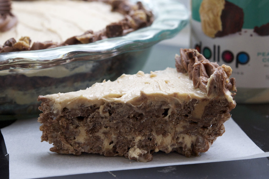 Peanut Butter Cup Rice Krispie Pie