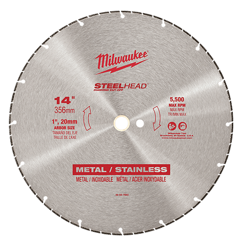 "Milwaukee Metal Cutting - Milwaukee STEELHEAD Diamond Cut-Off 14"" 356mm - bcsupplies.com.au"