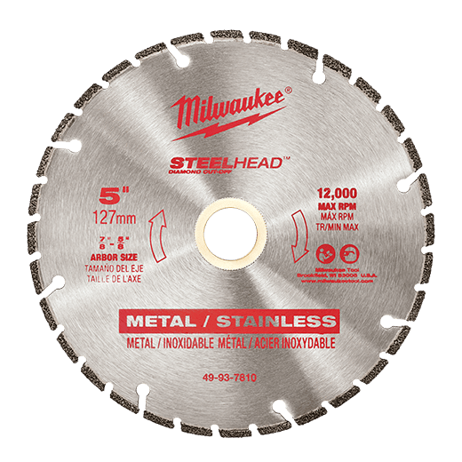 "Milwaukee Metal Cutting - Milwaukee STEELHEAD Diamond Cut-Off 5"" 125mm - bcsupplies.com.au"