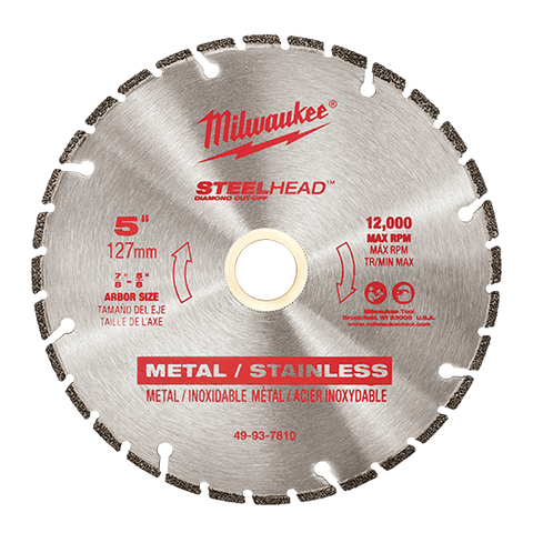 "Milwaukee-STEELHEAD-Diamond-Cut-Off 5""-125mm"