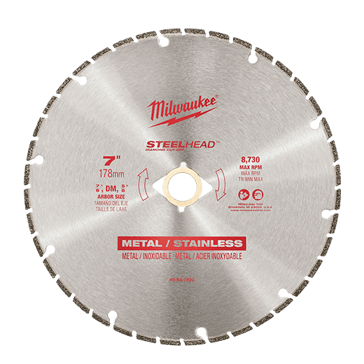 "Milwaukee Metal Cutting - Milwaukee STEELHEAD Diamond Cut-Off 7"" 178mm - bcsupplies.com.au"