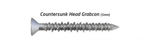 Concrete Screws - Countersunk Concrete Screws - Gal - 100 pack - bcsupplies.com.au
