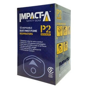 Impacta P2 Dust Masks - 12 pack - Impacta P2 Dust Masks - 12 pack - bcsupplies.com.au