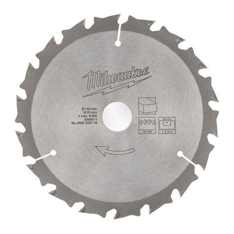 Milwaukee M12 140mm Cordless Circular Saw Blade