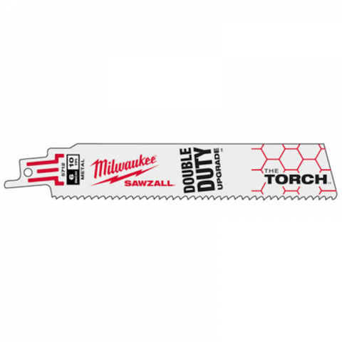 Milwaukee Sabre Saw Blades - Milwaukee The Torch Metal Demolition Blade 230mm 10TPI - 5 Pack - bcsupplies.com.au