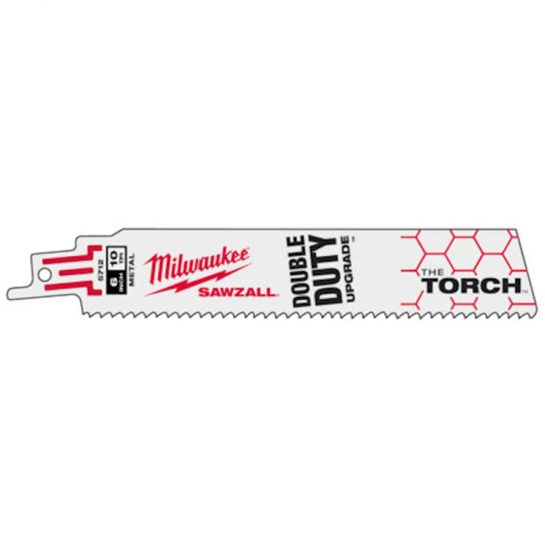 Milwaukee Sabre Saw Blades - Milwaukee The Torch Metal Demolition Blade 150mm 14TPI - 5 Pack - bcsupplies.com.au