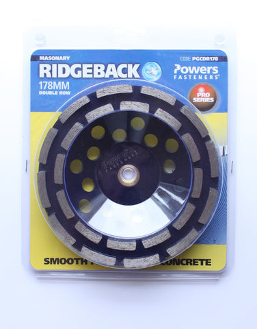 Double Row Cup Diamond Blade - Powers Double Row Cup - bcsupplies.com.au