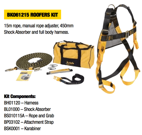 Roofers safety kit - Roofers safety kit - bcsupplies.com.au