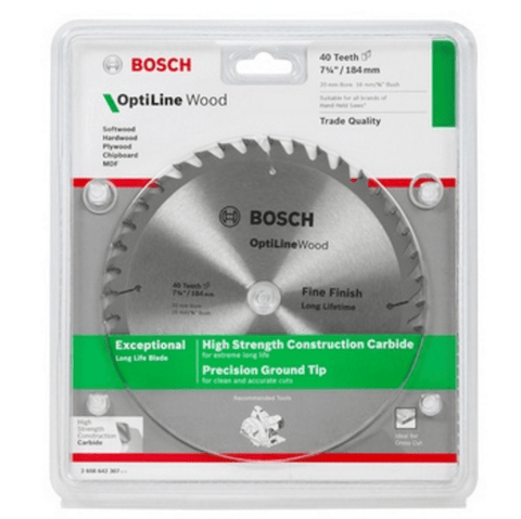 Bosch Circular Saw Blades - Bosch 235mm 20 Tooth Optiline - bcsupplies.com.au