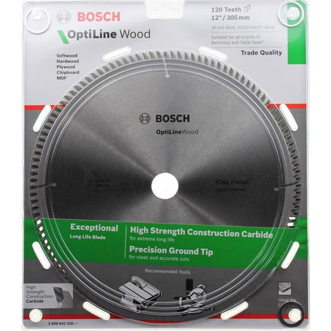 Bosch Circular Saw Blades - Bosch 305mm 120 Tooth Optiline - bcsupplies.com.au