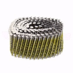 Coil Nails - 15° 50mm x 2.50 Coil Screw Shank - Bright - bcsupplies.com.au