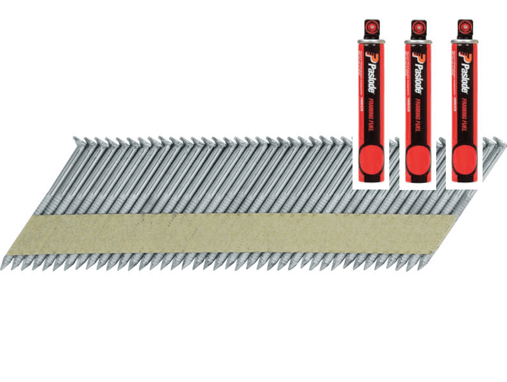 Paslode 75mm Framing Nails with Gas - Galvanised | Building ...