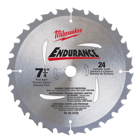 Milwaukee Circular Saw Blades - Milwaukee Circular Saw 7-1/4 (185mm) Blade - bcsupplies.com.au
