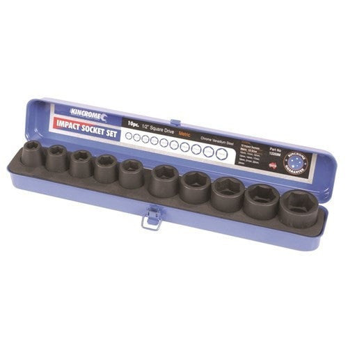 "Impact Sockets - Kincrome Short Impact Socket Set 10 Piece 1/2"" Square Drive - bcsupplies.com.au"