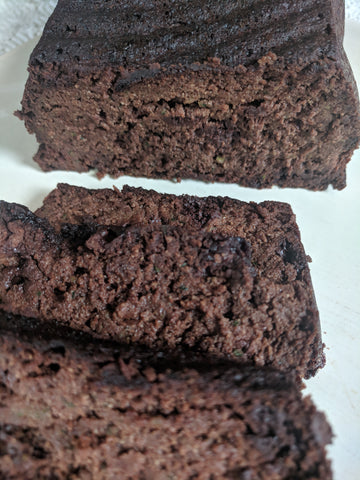 Paleo Chocolate Zucchini Banana Bread