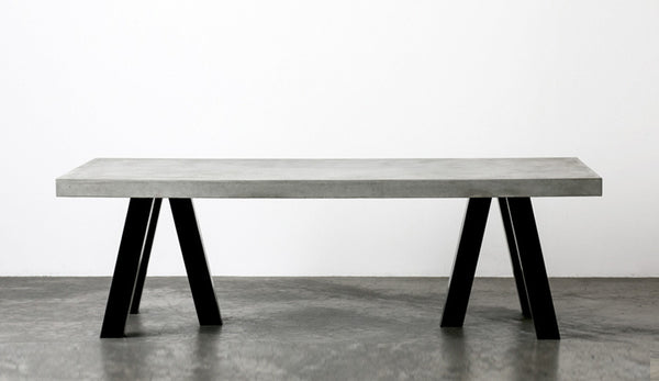 concrete top dining table. The London Concrete Dining Table Top