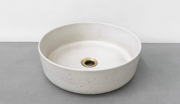 SECONDS | HULA Concrete Basin (White) RRP $660 | NOW $400