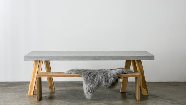 Beautifully Unique Custom Concrete Furniture SLABSbyDesign - Concrete slab coffee table