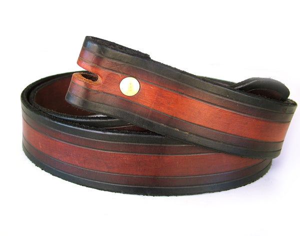 Striped Leather Belts