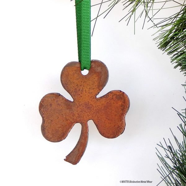 three-leaf clover ornaments