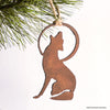 coyote and moon ornament