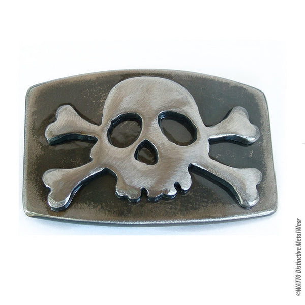 jolly rogers skull belt buckle