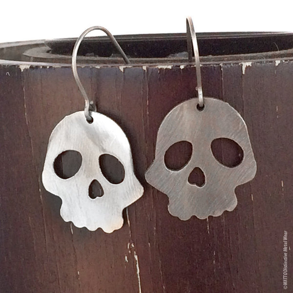 skull stainless steel earrings