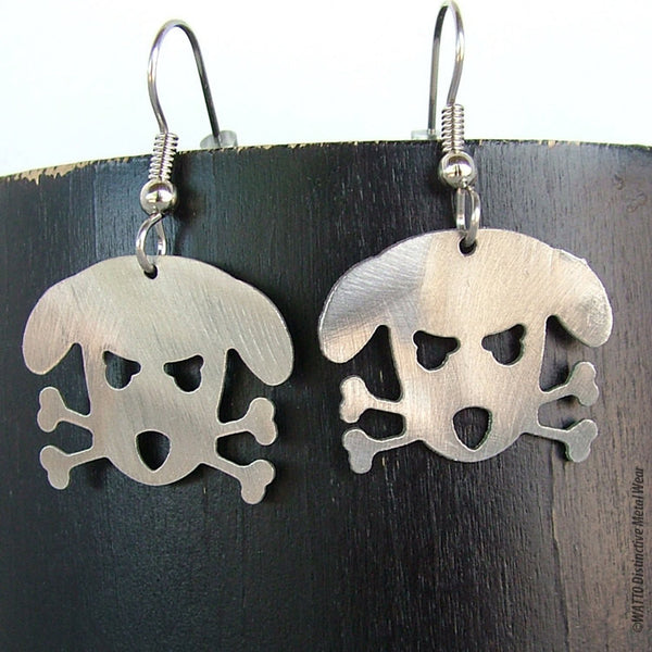 dog stainless steel earrings - Outlaw Doggy Holmes