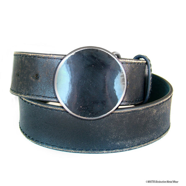 Spade Removable Snap-on Metal Belt Buckle by WATTO Distinctive Metal Wear for Poker Lovers