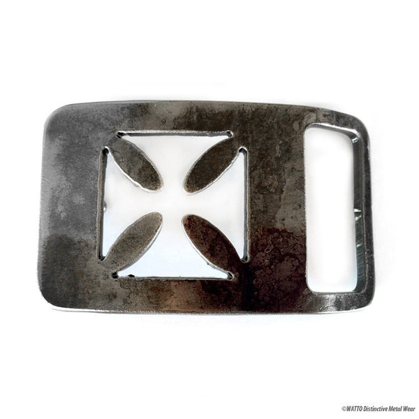iron cross rectangle belt buckle