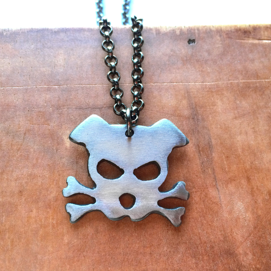 dog necklace - Outlaw Doggy Bandit