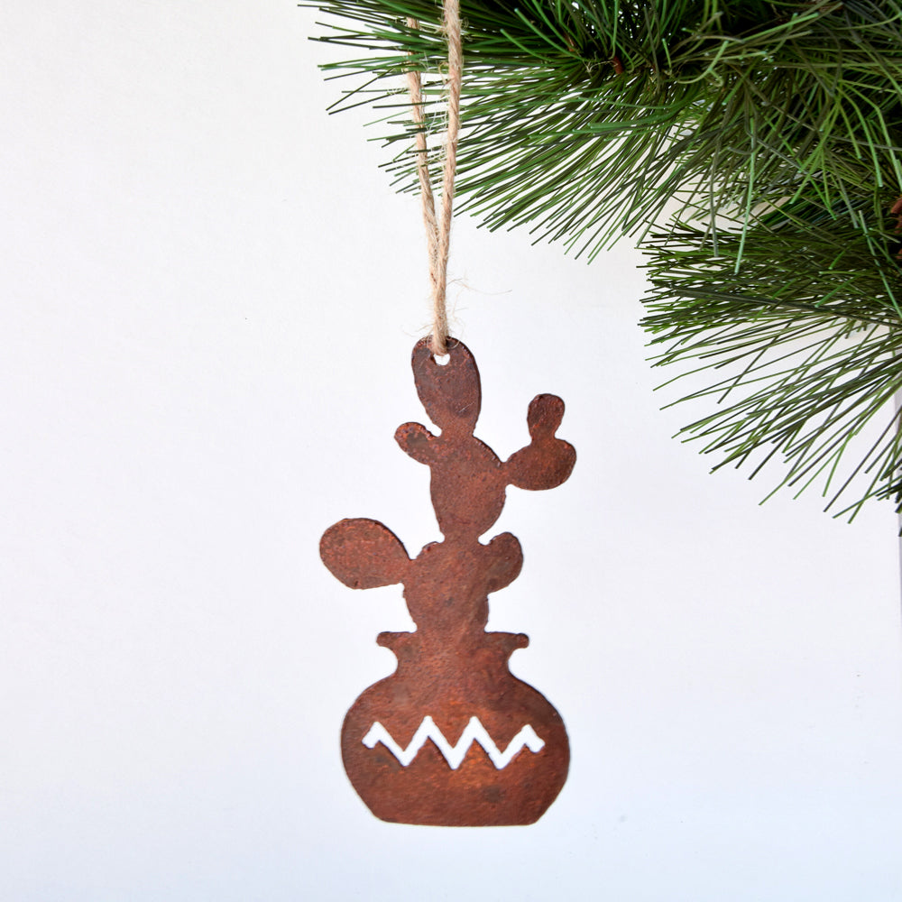 prickly pear cactus ornament
