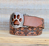 paw print belt buckle