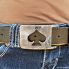 spade rectangle belt buckle