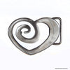 spiral heart belt buckle