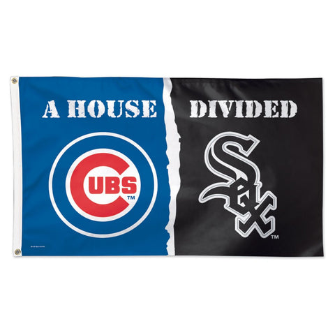 "Chicago Cubs & Chicago White Sox ""A House Divided"" Deluxe 3' x 5' Flag"
