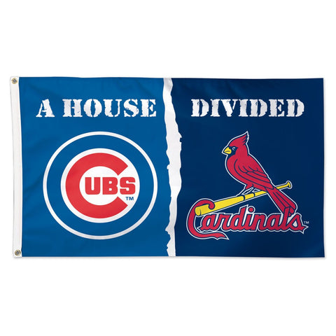 "Chicago Cubs & St. Louis Cardinals ""A House Divided"" Deluxe 3' x 5' Flag"