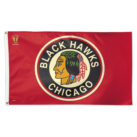 Chicago Blackhawks Vintage Logo Deluxe 3' x 5' Flag