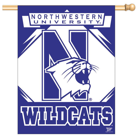 "Northwestern 27"" x 37"" Vertical Banner Flag"
