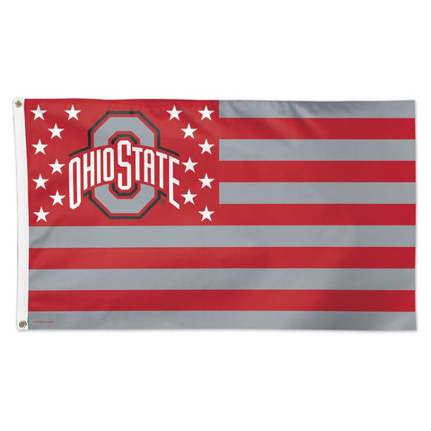 Ohio State Buckeyes Stars & Stripes Deluxe 3' x 5' Flag