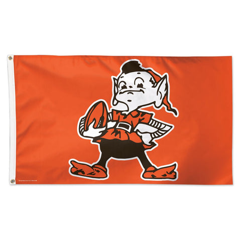 Cleveland Browns / Classic Logo Deluxe 3' x 5' Flag
