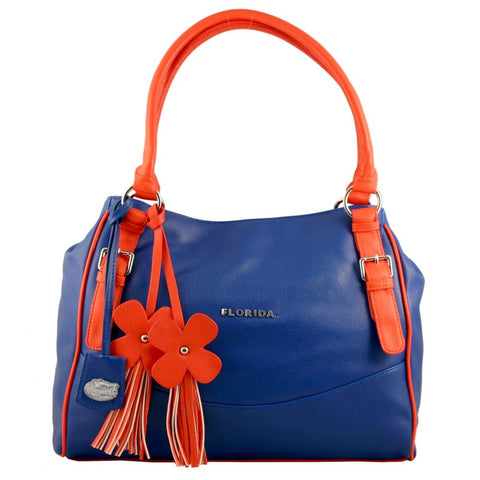 "Florida Gators ""Jet Set"" Purse With Dangle Flowers"
