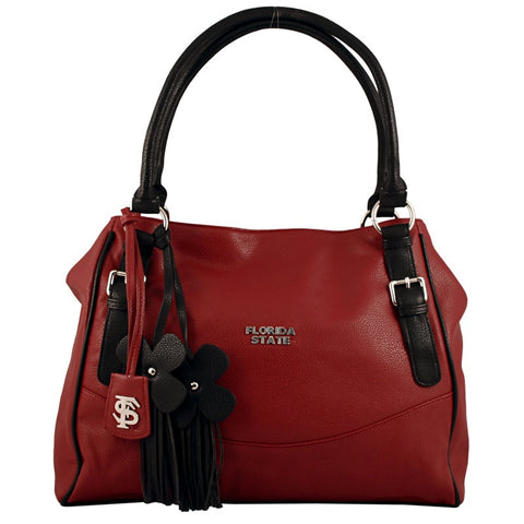 "Florida State Seminoles ""Jet Set"" Purse With Dangle Flowers"