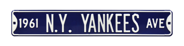 1961 New York Yankees Ave Sign