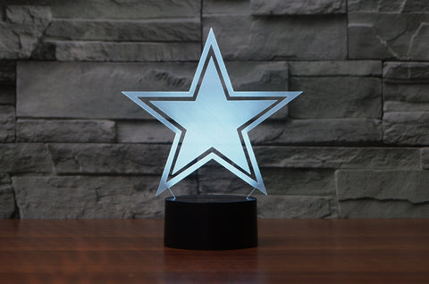 "Dallas Cowboys ""Logo"" - 3D LED Lamp/Night Light"