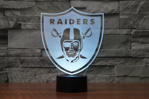 "Oakland Raiders ""Logo"" - 3D LED Lamp/Night Light"